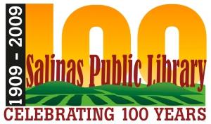 The Salinas Public Library's NEW Centennial Logo